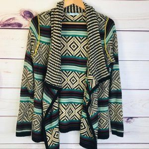 Maurices Boho Aztec Waterfall Cardigan Sweater